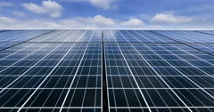 Timelaps of solar cell panel with cleary sky Stock Footage