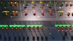 Audio control engineer Stock Footage