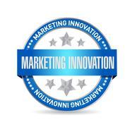 Marketing Innovation seal sign concept - stock illustration