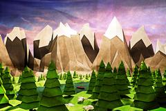 Nature low poly Stock Illustration