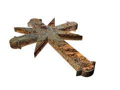 Rusty cross Stock Illustration