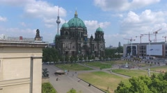 BERLIN – Aerial view of Berliner Dom. Berlin attracts 30 million - stock footage