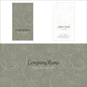 Print. Flowers company vector logo corporate business card Stock Illustration
