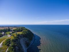 Coastal Landscape at Kap Arkona on Ruegen Island baltic Sea - stock photo