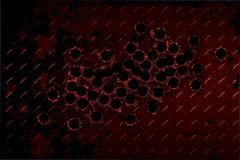 shotgun bullet hole - stock illustration