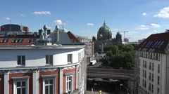 Berlin Cathedral, also known as Berliner Dom view from a roof top Stock Footage