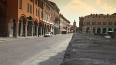 Old town of Ferrara,Ferrara, Italy, ultra hd 4k, real time Stock Footage