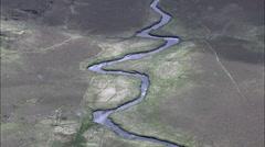 Moylenanav Mountain To River Gweebarra - stock footage