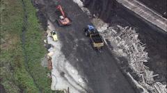 Large Peat Works Stock Footage