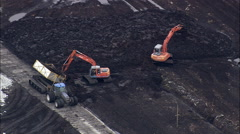 Large Peat Works Stock Footage