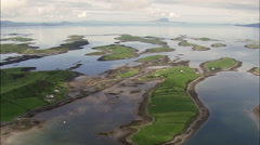 Houses On Clew Bay Islands Stock Footage