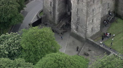 Visitors At Bunratty Castle Stock Footage