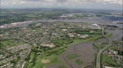 Cork aerial Stock Footage