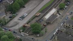 East Lancs Railway Line, Station Stock Footage
