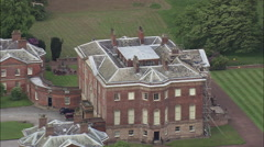 Tabley House And Park, With Folly Castle On Island In Lake Stock Footage