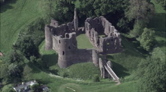 Grosmont Castle Stock Footage