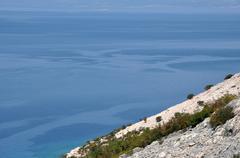 Adriatic rocky coast in Dalmatia - stock photo