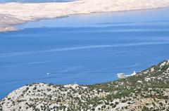 Adriatic rocky coast in Dalmatia Stock Photos