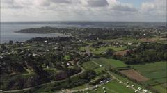 Paimpol aerial Stock Footage