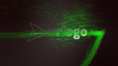 Spike Smooth Particle Logo Stock After Effects