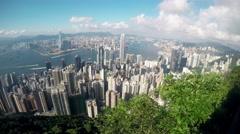 Panorama view of hong kong peak Stock Footage