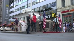 Modern day Checkpoint Charlie establishing shot Stock Footage