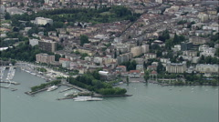 Lausanne aerial Stock Footage