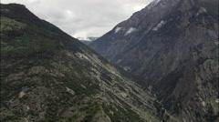 Mountain Landscape Around Steg Stock Footage