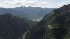 Valley Leading To Domodossola Stock Footage