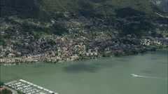 Locarno aerial Stock Footage