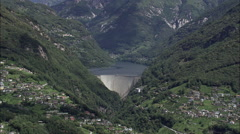Vezasca Dam Stock Footage