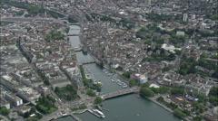 Zurich aerial Stock Footage