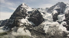 Railway Station In The Eiger Stock Footage