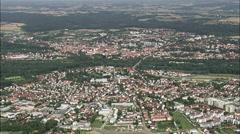 Freising aerial Stock Footage