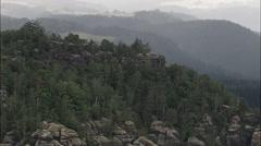 Bastei aerial Stock Footage