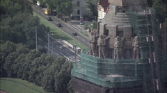 Leipzig - Battle Of Nations Monument Stock Footage