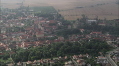 Querfurt Castle And Town Stock Footage