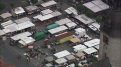 Naumburg Town And Street Market Stock Footage