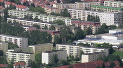 Apolda And Plattenbau Public Housing Stock Footage