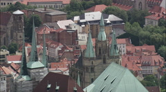 Erfurt Cathedral Stock Footage