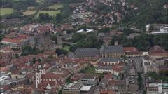 Fulda aerial Stock Footage