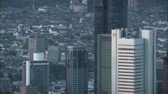 Frankfurt At Dusk Stock Footage