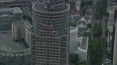 Messeturm At Dusk Stock Footage
