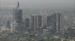 Frankfurt Financial District Stock Footage