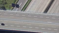 A5 Motorway Junction Stock Footage