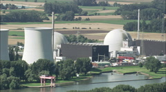 Biblis Nuclear Power Plant Stock Footage