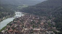 Heidelberg aerial Stock Footage