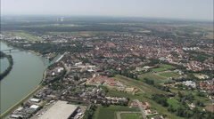 Speyer aerial Stock Footage
