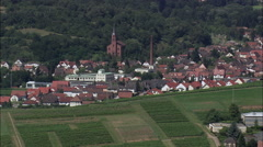 Vinyards And Villages Of Rhineland-Palatinate Stock Footage