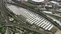 Stuttgart aerial Stock Footage